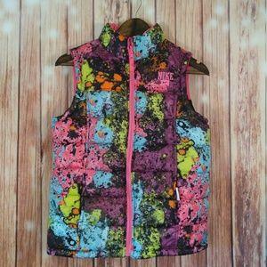 Nike REVERSIBLE puffer vest paint splatter PINK